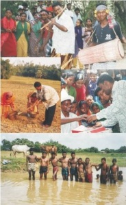 Hasan while living with Santal Community during 2000-2002.